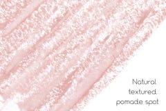 Naturalny pomaduje sztandaru tło z surową grunge teksturą kosmetyki Obrazy Stock
