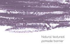 Naturalny pomaduje sztandaru tło z surową grunge teksturą kosmetyki Obraz Stock