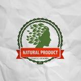 Naturalny produkt Logo, ikona, znak, emblemat, znaczek ilustracji