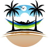 Naturalny relaksuje logo ilustracji