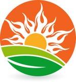 Naturalny słońce logo royalty ilustracja