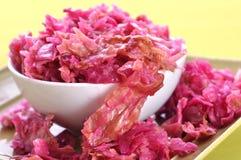 Naturalny sauerkraut Zdjęcia Royalty Free