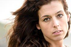 Naturalny smutny kobieta portret Obrazy Stock