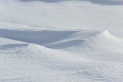 Naturalny surowy śnieg nakrywać tekstury Obraz Royalty Free