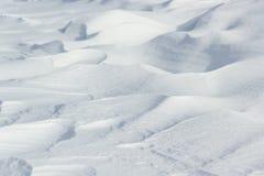 Naturalny surowy śnieg nakrywać tekstury Obrazy Stock
