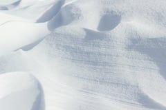 Naturalny surowy śnieg nakrywać tekstury Zdjęcia Stock