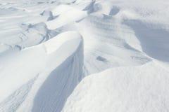 Naturalny surowy śnieg nakrywać tekstury Fotografia Royalty Free