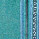Naturalny tło gęsty błękitny kolor deseniował tkaninę Tkaniny tekstura dla tła Szablon dla projekta zdjęcie royalty free