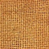 Naturalny textured burlap hessian tekstury kawy parciany worek, ciemny kraj grabije kanwę, makro- zbliżenia tła wzór Obrazy Stock