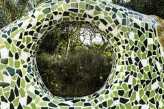 Naturalny widok przez dziury w ścianie Obraz Royalty Free