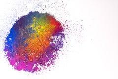 Naturalny wielo- barwiony pigmentu proszek fotografia royalty free