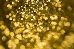 Naturalny złoty bokeh Zdjęcie Stock