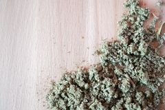 Naturalny ziołowy podżegający, antimicrobial, hemostatyczny - organicznie mądra herbata zdjęcia royalty free