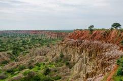 Naturalny zjawisko Miradouro da Lua lub księżyc krajobraz w Angola obrazy stock
