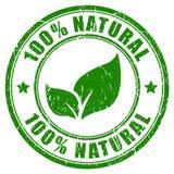 100 naturalny znaczek Fotografia Royalty Free