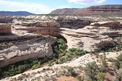 Naturalnych mostów Krajowy zabytek w Utah, usa Zdjęcia Stock