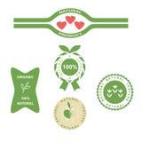 Naturalnych produktów etykietka Zdjęcia Royalty Free