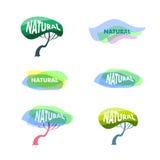 Naturalnych produktów logo Zdjęcie Stock