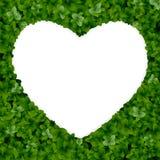 Naturbakgrund med hjärta Fotografering för Bildbyråer