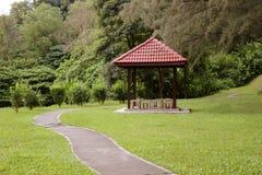 Naturbana med trädgården Royaltyfria Bilder
