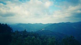 Naturberg, aftonhimmel Royaltyfria Foton