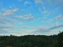 NaturCzechia himmel i Bechyne royaltyfri foto