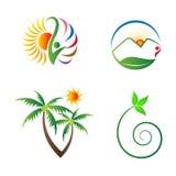 Naturdesigner royaltyfri illustrationer