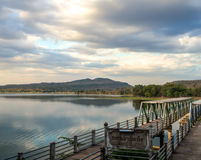 Nature湖微明时间 库存照片