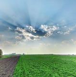 Nature. High dynamic range sun rays Stock Image