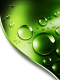 Nature. Abstract nature background with drops of dew on a green leaf Stock Image