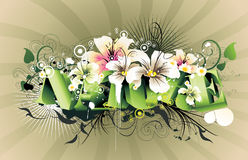 Nature 3d text. Background nature 3d text illustration Royalty Free Stock Images