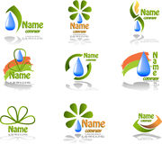 Nature. Set of vector symbols on nature Royalty Free Stock Photos