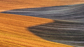 Nature abstract background of agricultural field. Brown ground, South Moravia, Czech Republic Royalty Free Stock Photos
