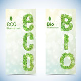 Nature abstract eco banners set Royalty Free Stock Images