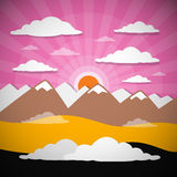 Nature Abstract Mountains Illustration Stock Photos