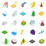 Nature activity icons set, isometric style. Nature activity icons set. Isometric set of 25 nature activity vector icons for web isolated on white background Stock Image