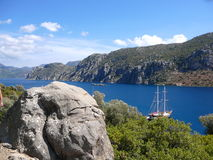 The nature of the Aegean sea. Marine tourism royalty free stock images