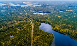 Nature aerial photography. Aerial photography, Lithuanian in fall Stock Image