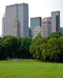 Nature against the elements. Buildings of new york city surrounding central park Royalty Free Stock Images