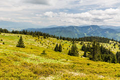 Nature along the cycling way from Malino Brdo to Revuce in Slova Stock Image