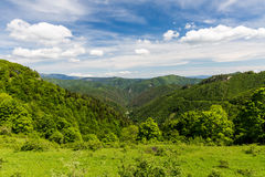 Nature along the cycling way from Malino Brdo to Revuce in Slova. View of nature Landscape along the cycling way from Malino Brdo to Revuce, Slovakia 2015 Royalty Free Stock Photo
