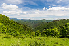 Nature along the cycling way from Malino Brdo to Revuce in Slova. View of nature Landscape along the cycling way from Malino Brdo to Revuce, Slovakia 2015 Stock Photo