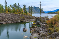 The nature of the Altai Mountains Stock Photo