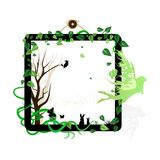 Nature and animals wildlife in frame portrait with fairy fantasy vector illustration