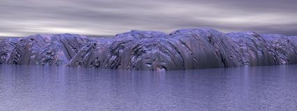 Nature of antarctic Stock Image