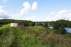 Nature around  Hald Castle near Hald Lake in Denmark Royalty Free Stock Images