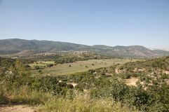 The Meron mountains in the Galilee stock images