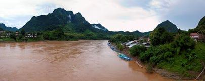 Nature around Nong Khiaw village Royalty Free Stock Photos
