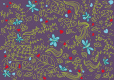 Nature art seamless pattern stock photos