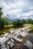 Nature of Austrian Alps near Swarovski Kristallwel Stock Photo
